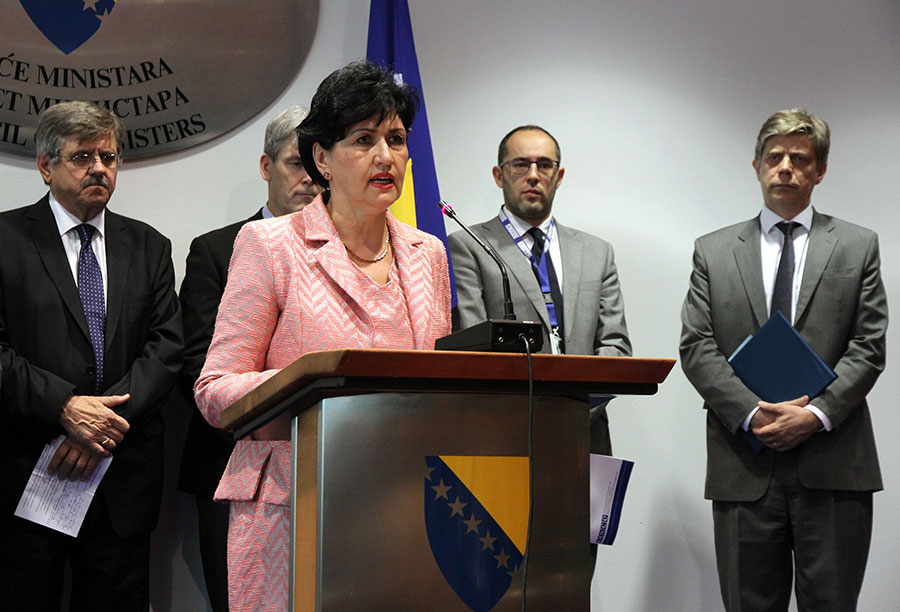 Ms Semiha Borovac, Minister for Human Rights and Refugees