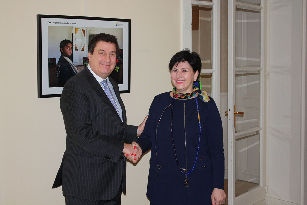 Minister Borovac with CEB Vice-Governor Monticelli