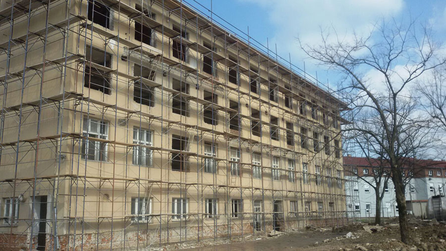 Progress of works in Knin and Glina, May 2016
