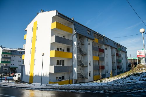 RHP apartment building in Tuzla, Bosnia and Herzegovina